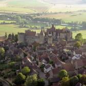 Château et village de châteauneuf en Auxois